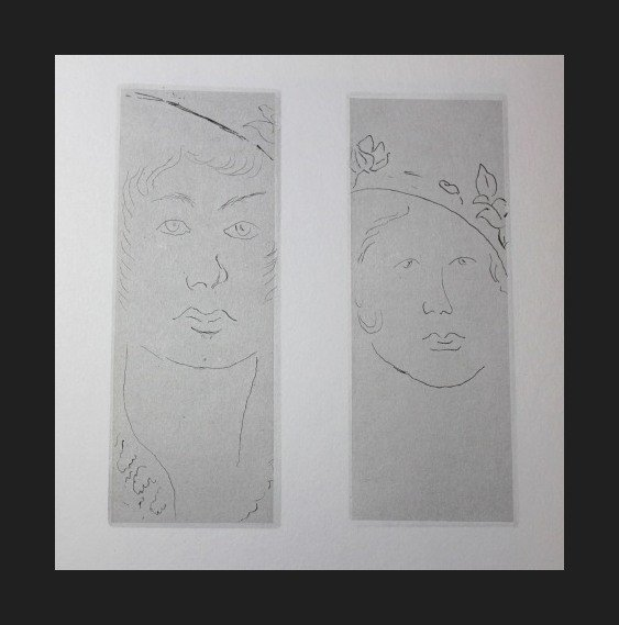 800001: VINTAGE 1956 MATISSE LITHOGRAPH
