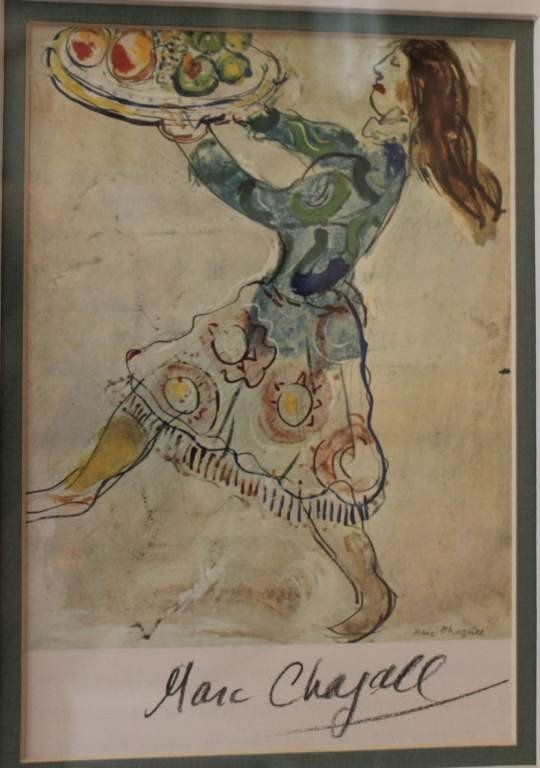 101121: CHAGALL - HAND SIGNED LITHOGRAPH
