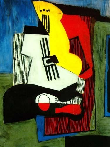 """200006: PICASSO """"STILL LIFE WITH GUITAR"""""""