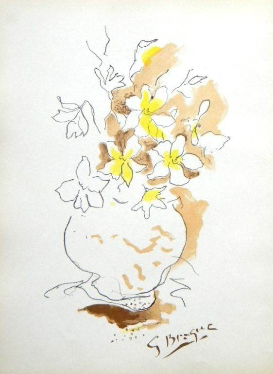 200038: GEORGES BRAQUE LITHOGRAPH, 1955