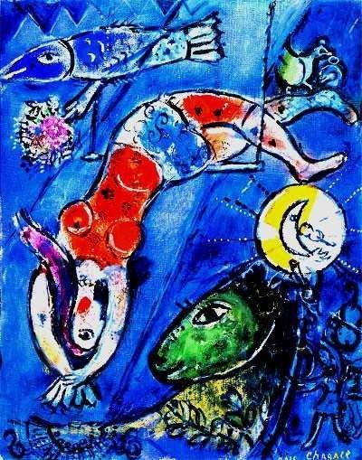 """200098: MARC CHAGALL """"BLUE CIRCUS"""""""