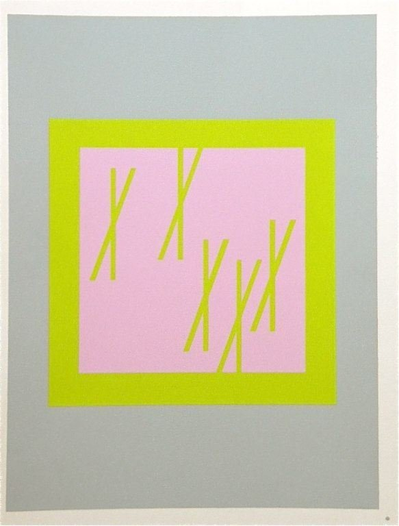300027: ALBERS SILKSCREEN  INTERACTION OF COLOR, 1963