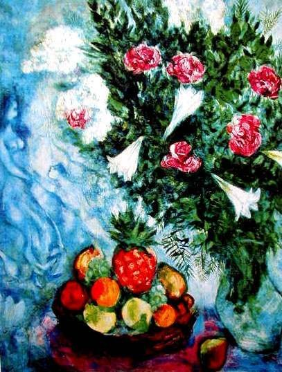"""300211: MARC CHAGALL """"FRUIT & ROSES"""""""