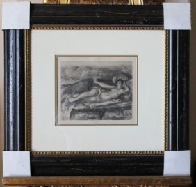 ANTIQUE RENOIR ORIGINAL HELIOGRAVURE - 1919