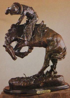 """RATTLESNAKE"" BRONZE SCULPTURE - REMINGTON"
