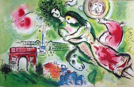 300391: CHAGALL LIMITED EDITION LITHOGRAPH