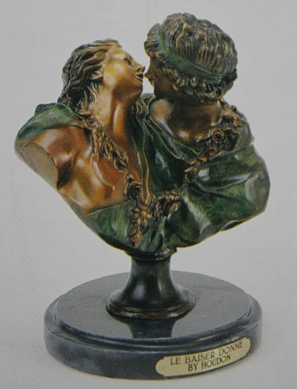 "300395: ""LE BASIER DOHNE"" BRONZE SCULPTURE - HOUDON"