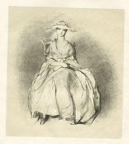400040: GAINSBOROUGH LITHOGRAPH (LADY WITH HAT)