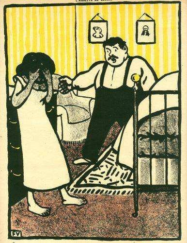 400048: FELIX VALLOTTON ORIGINAL LITHOGRAPH