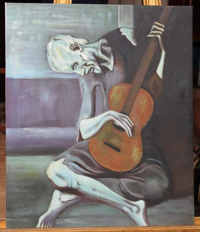 400108: PICASSO - OIL ON CANVAS - REPRODUCTION