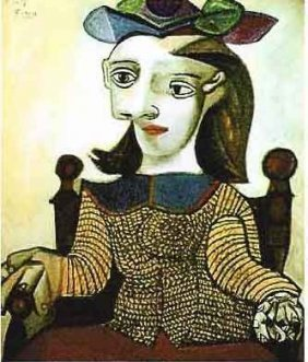 """PICASSO """"SEATED LADY IN BROWN"""""""