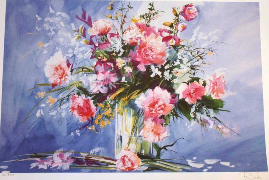 """400158: ROCHE """"FLORAL"""" HAND SIGNED"""
