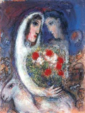 """MARC CHAGALL """"MARRIAGE"""""""
