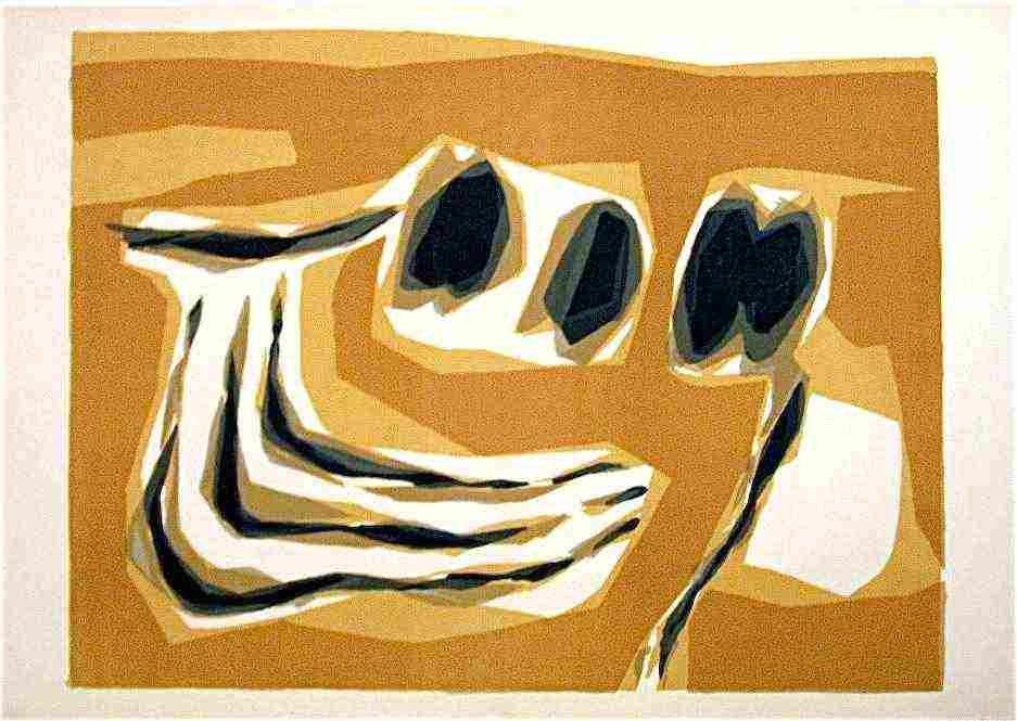 400188: RAOUL UBAC ORIGINAL LITHOGRAPH, 1964