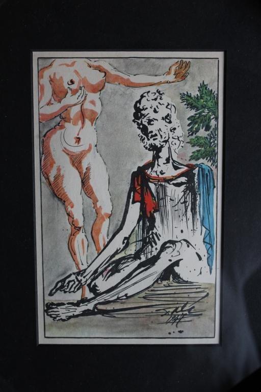 100003: DALI ANTIQUE LITHOGRAPH (1947)