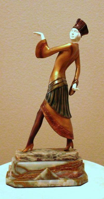 "200004: CHIPARUS - ""PARIS"" -BRONZE AND IVORY SCULPTURE"