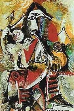 "200038: PICASSO ""CHILD ON MAN'S LAP"""
