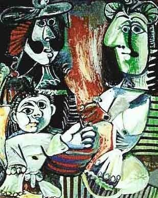 "300037: PICASSO ""SMALL CHILD WITH TWO WOMEN"""