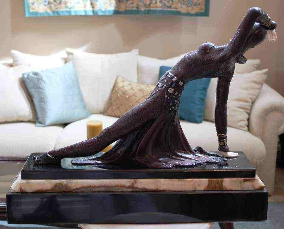 """400454: CHIPARUS - """"EXOTIC DANCER"""" -BRONZE AND IVORY SC - 3"""
