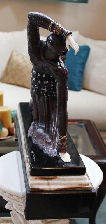 """400454: CHIPARUS - """"EXOTIC DANCER"""" -BRONZE AND IVORY SC - 5"""