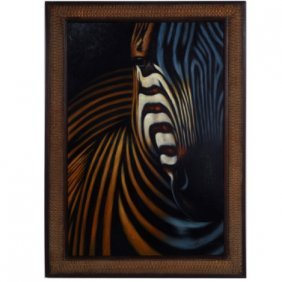 """ZEBRA"" - ORIGINAL OIL ON CANVAS"