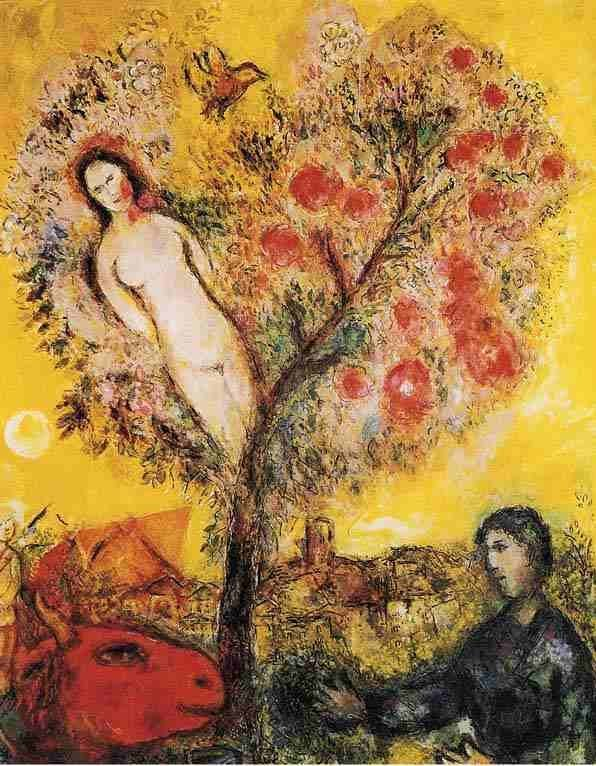 """500573: MARC CHAGALL """"TREE OVER VILLAGE"""""""
