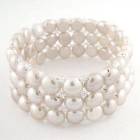500855: WHITE PEARL BRACELET