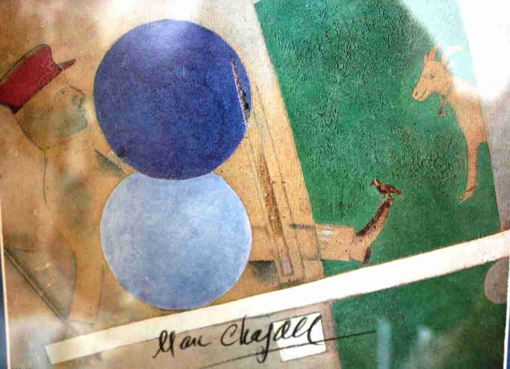 600020: CHAGALL - HAND SIGNED LITHOGRAPH