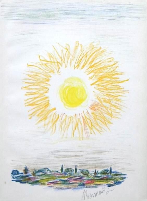 """600028: PIERRE BONNARD """"SUNSET"""" ORIGINAL LITHOGRAPH"""