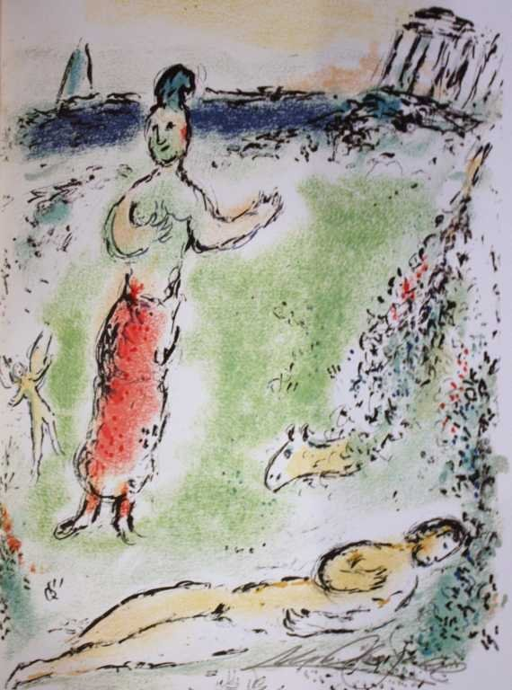 700021: MARC CHAGALL HAND SIGNED LITHOGRAPH