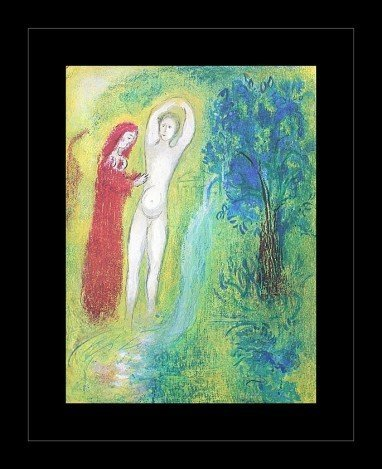 """700004: CHAGALL 1977 """"DAPHNIS AND CHLOE"""" LITHOGRAPH"""