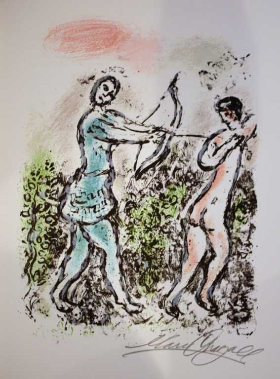 800022: MARC CHAGALL HAND SIGNED LITHOGRAPH
