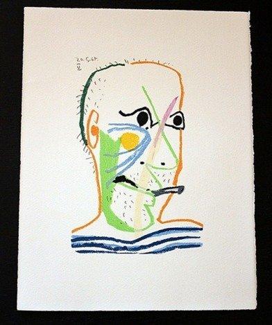 """800001: PICASSO 1970 """"LE GOUT DE BONHEUR"""" LITHOGRAPH"""
