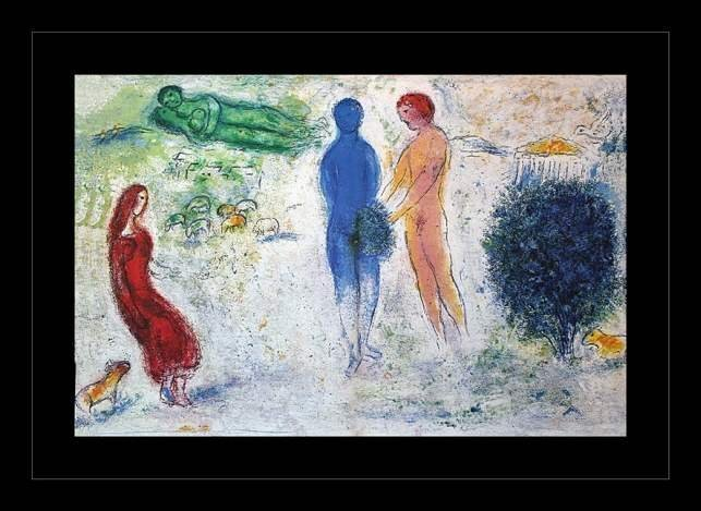 """800003: CHAGALL 1977 """"DAPHNIS AND CHLOE"""" LITHOGRAPH"""