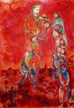 """100009: MARC CHAGALL """"KING DAVID WITH LYRE"""""""