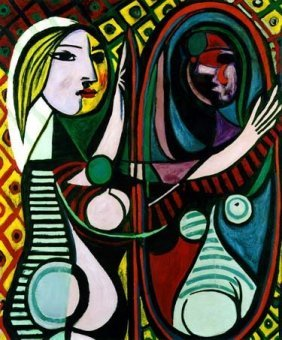 """100023: PICASSO """"GIRL BEFORE A MIRROR"""""""
