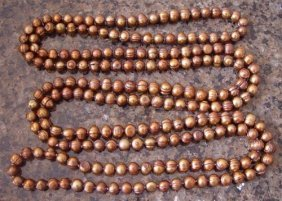 """100025: GENUINE 38"""" CHOCOLATE CULTURED PEARL NECKLACE"""