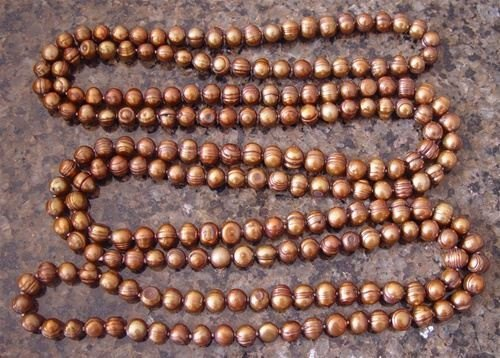 "100025: GENUINE 38"" CHOCOLATE CULTURED PEARL NECKLACE"
