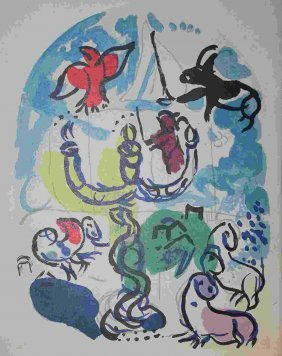 """100027: CHAGALL """"THE TRIBE OF DAN"""" 1963"""