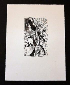 """100002: PICASSO 1970 """"LE GOUT DE BONHEUR"""" LITHOGRAPH"""
