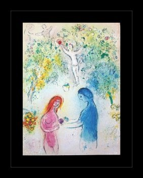 """100004: CHAGALL 1977 """"DAPHNIS AND CHLOE"""" LITHOGRAPH"""