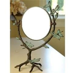 200026: DRAGONFLY ON BRANCH TABLE MIRROR
