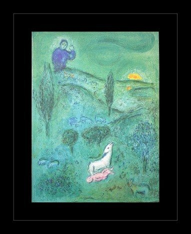 """200003: CHAGALL 1977 """"DAPHNIS AND CHLOE"""" LITHOGRAPH"""