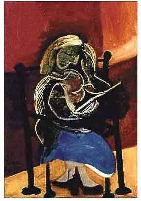 """300003: PICASSO """"SEATED WOMAN READING"""""""