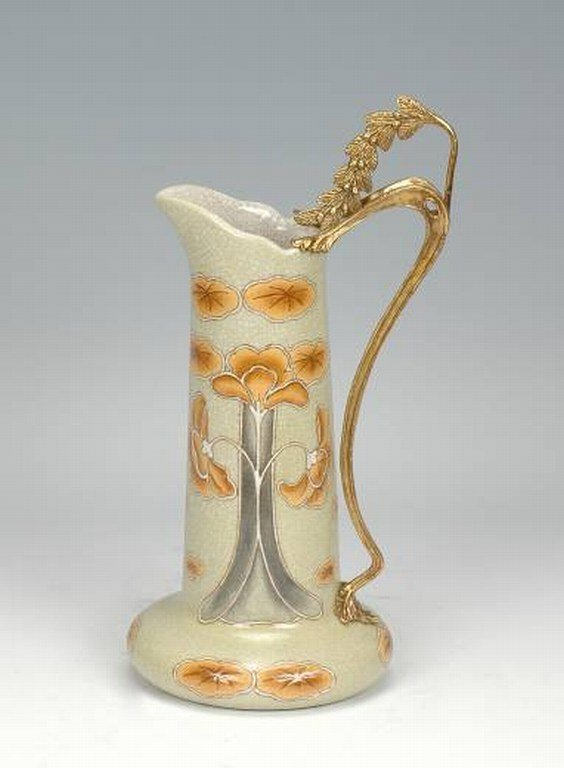 300023: HAND PAINTED PORCELAIN PITCHER