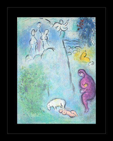 """300002: CHAGALL 1977 """"DAPHNIS AND CHLOE"""" LITHOGRAPH"""