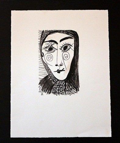 """300004: PICASSO 1970 """"LE GOUT DE BONHEUR"""" LITHOGRAPH"""