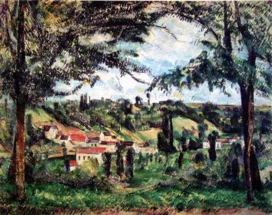 "500008: CEZANNE ""VILLAGE FRAMED BY TREES"" LIMITED EDITI"