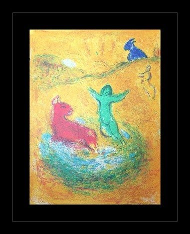 """600004: CHAGALL 1977 """"DAPHNIS AND CHLOE"""" LITHOGRAPH"""