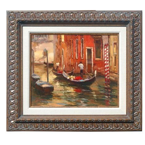 """600001: """"CANALS OF VENICE"""" - ORIGINAL OIL ON CANVAS"""